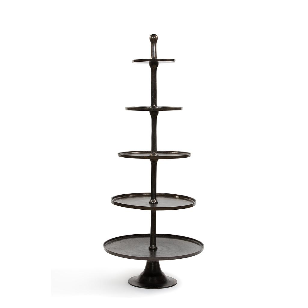 5 tier etagère - aluminium - antique bronze - H158cm - p/1/1